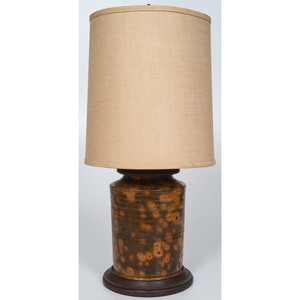 Redware Jar Lamp