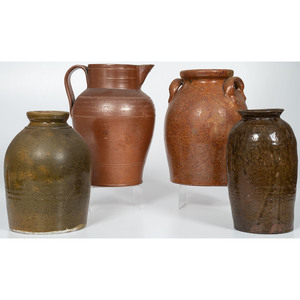 Redware Jars and Incised Pitcher