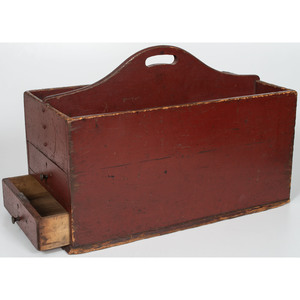 Two-Drawer Tool Caddy in Original Red Paint