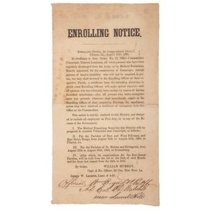Confederate Enrolling Notice Broadside from Clinton, Louisiana, 1864