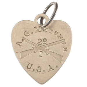 Civil War Charm Identified to Private Meisner, 28th Illinois Infantry