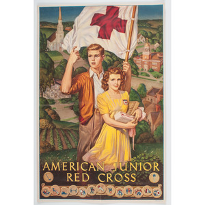 Lot of Four World War II Posters, Incl. American Junior Red Cross Posters
