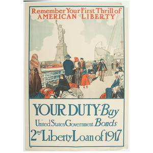 World War I Posters Promoting Government Bonds, Lot of Two