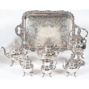 Birmingham Silver Co. Silverplated Tea and Coffee Service