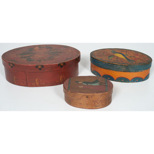 Painted Oval Pantry Boxes