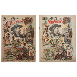 Buffalo Bill Wild West Programs for 1892, 1895, and 1898