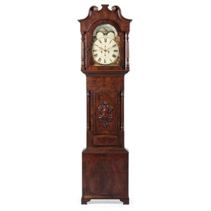 English Tall Case Clock, Signed J. Kingerley