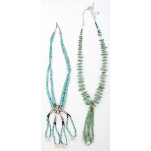 Pueblo Style Turquoise Nugget and Heishi Necklace PLUS