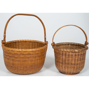 Contemporary Nantucket Baskets, Including One Signed Asa Brown