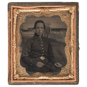 Private Robert S. Beckwith, 1st New Jersey Infantry, DOW 2nd Bull Run, Civil War Archive Featuring Sixth Plate Tintype and Correspondence