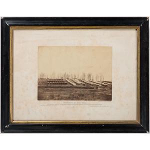 Timothy O'Sullivan Civil War Albumen Photograph, Detachment 50th NYV Engineers, Camp Scene at Rappahannock Station, Virginia