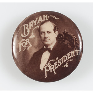 Rare William Jennings Bryan Presidential Campaign Button