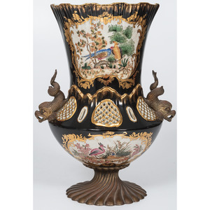 Bronze Mounted Porcelain Vase
