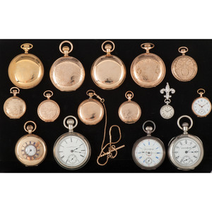 Pocket Watches, Lot of Fifteen