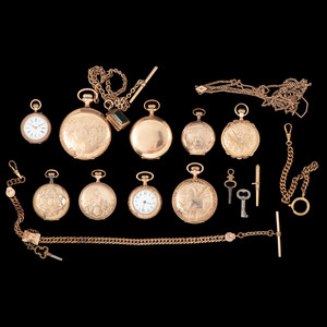 Pocket Watches, Lot of Nine