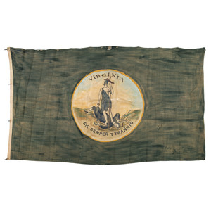 State of Virginia Flag, ca 1870s