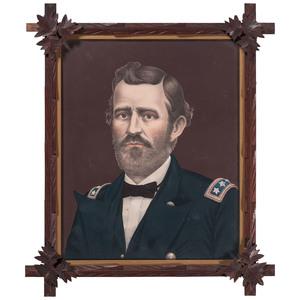 Civil War Framed Chromolithographs of Union Leaders: Lincoln, Sherman & Grant