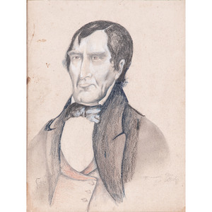 Folk Art Drawing of William Henry Harrison