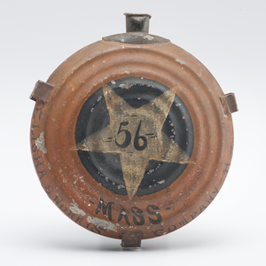 Hand-Painted Civil War Canteen Identified to Elisha B. Norris, 13th Vermont & 56th Massachusetts, with Gettysburg History