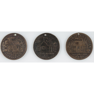 Three William Henry Harrison 1840 Campaign Tokens