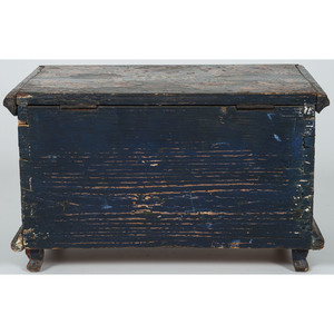Miniature Painted Blanket Chest, Possibly Mennonite