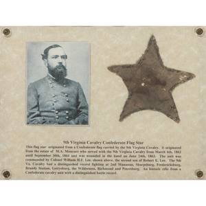 Confederate Souvenir Star from 9th Virginia Cavalry Flag