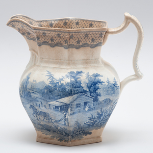 William Henry Harrison 1840 Campaign Wedgwood Transferware Ewer