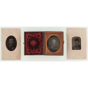 Civil War Soldier George Washington Smith, KIA Bull Run, Trio of Images of the Young Soldier Incl. Daguerreotype