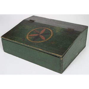 Painted Writing Desk with Compass Rose