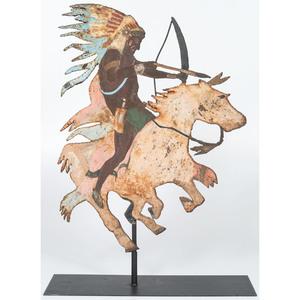 Sheet Steel American Indian Sculpture