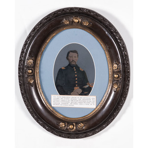Full Plate Tintype of 2nd Lieutenant John Callmer, 8th Illinois Infantry