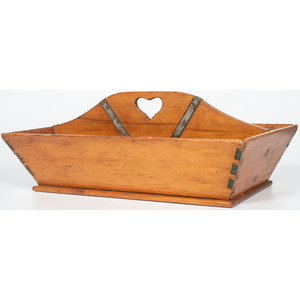 Pine Tool Tray with Heart Cut-Out