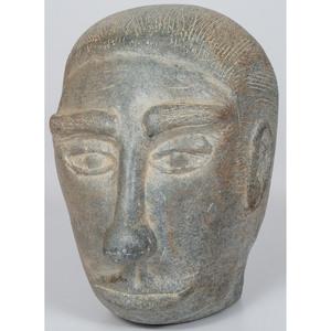 Folk Art Soapstone Head
