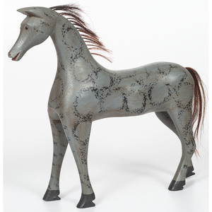 Contemporary Folk Art Painted Horse by Chris Vorhees