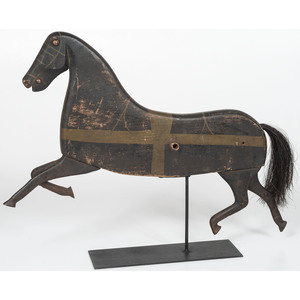 Wooden and Cast Iron Horse Toy