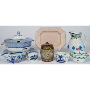 Collection of English Tablewares, Including Clews Staffordshire, Doulton Lambeth, Booths and Gaudy Ironstone, Plus