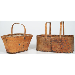 Two Birch Bark Baskets