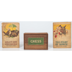 Chess Box and Books by Anna Darby Merrill