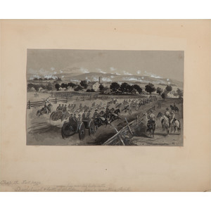 John R. Chapin, Original Painting from a Wartime Sketch Depicting the Battle of Antietam