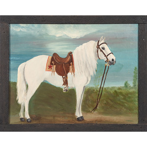 Folk Art Portrait of a Horse