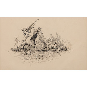 Looking for a Friend, Original Pen and Ink Sketch by I. Walton Taber