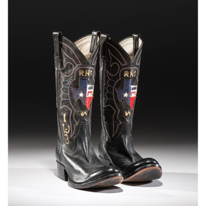 Rocky Carroll Custom Boots for Laura Welch Bush, with Texas and Republican Designs