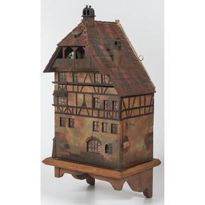 German Folk Art Hanging Cabinet