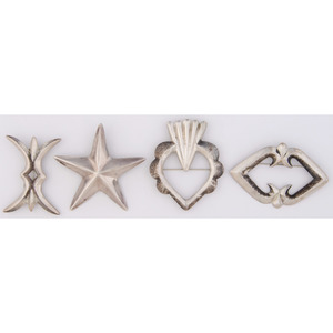 Navajo and Mexican Silver Pins / Brooches