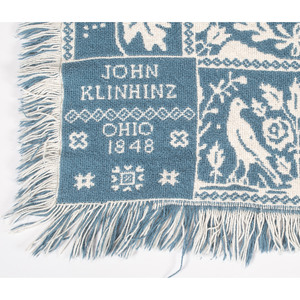 Reproduction 1848 Ohio Coverlet
