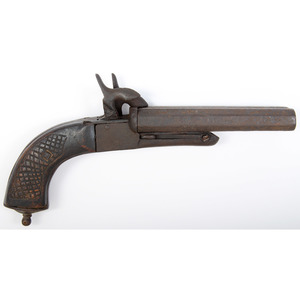 Relic Spanish Double Barrel Pin Fire Pistol