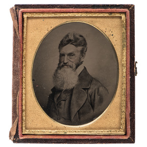 John Brown, Sixth Plate Melainotype After Black's Vignette Negative, Ca 1860