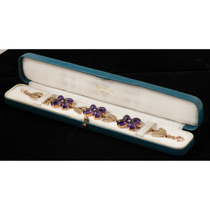 Wordley, Allsop & Bliss Co. for Tiffany & Co. Retro Amethyst Bracelet