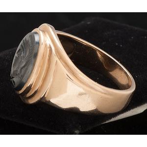 10K Gold Intaglio Ring