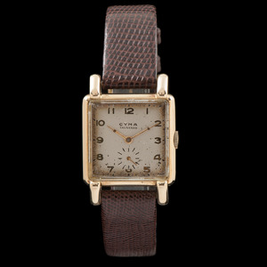 Cyma Tavannes 14k Square Wristwatch